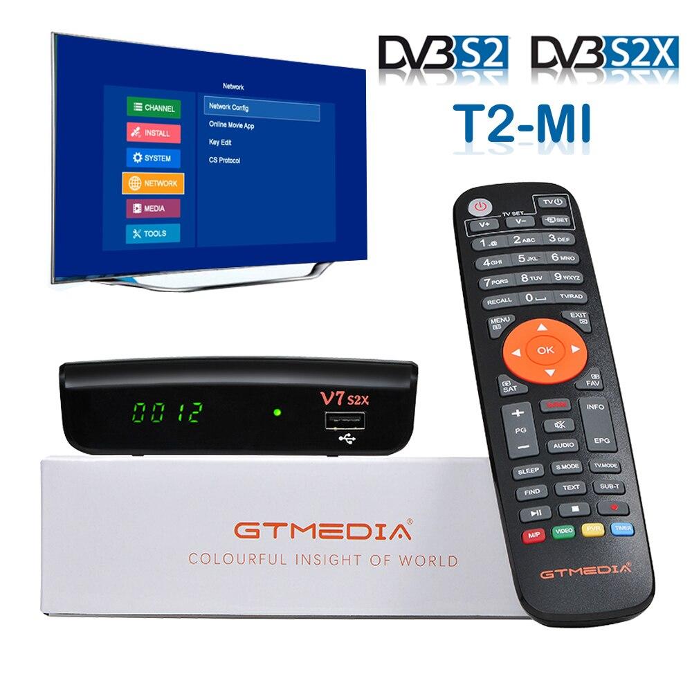 Dvb s2x HD récepteur décodeur DVB-S2X DVB S2 T2MI décodeur gratuit récepteur de télévision par satellite SKS IKS DVB-S2 GTmedia V7S2X v7s Youtube
