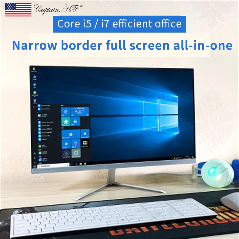 US Captain New All-in-One PC Desktop 21.5-inch Computer  Core i5 9400F  for Office and Home