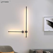 Luces de pared modernas para sala de estar, dormitorio, mesita de noche, candelabro, lámpara negra, iluminación de pasillo, decoración, Luminaria, AC96V-260V