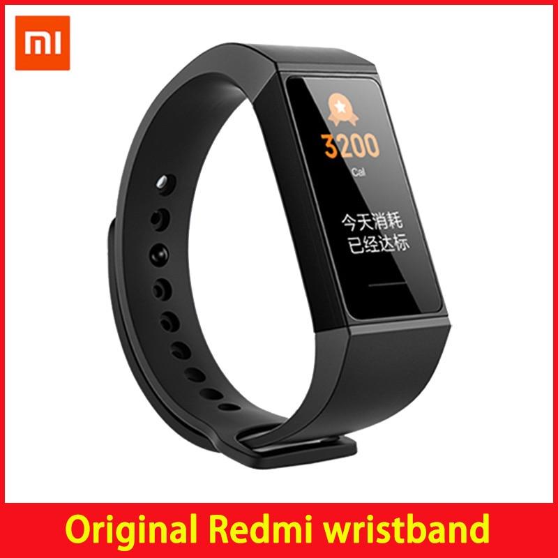 """Xiaomi redmi band pulseira de relógio, pulseira de relógio esportiva, monitor de frequência cardíaca, tela touch de 1.08 """", à prova d água, rastreador de atividade, miband"""