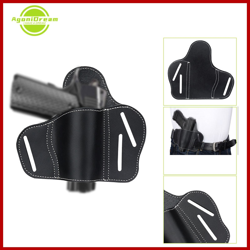 Leather Military Tactical Universal Concealed Belt Gun Holster for Glock 17 19 22 23 43 Sig Sauer P226 P229 Ruger Beretta 92 M92