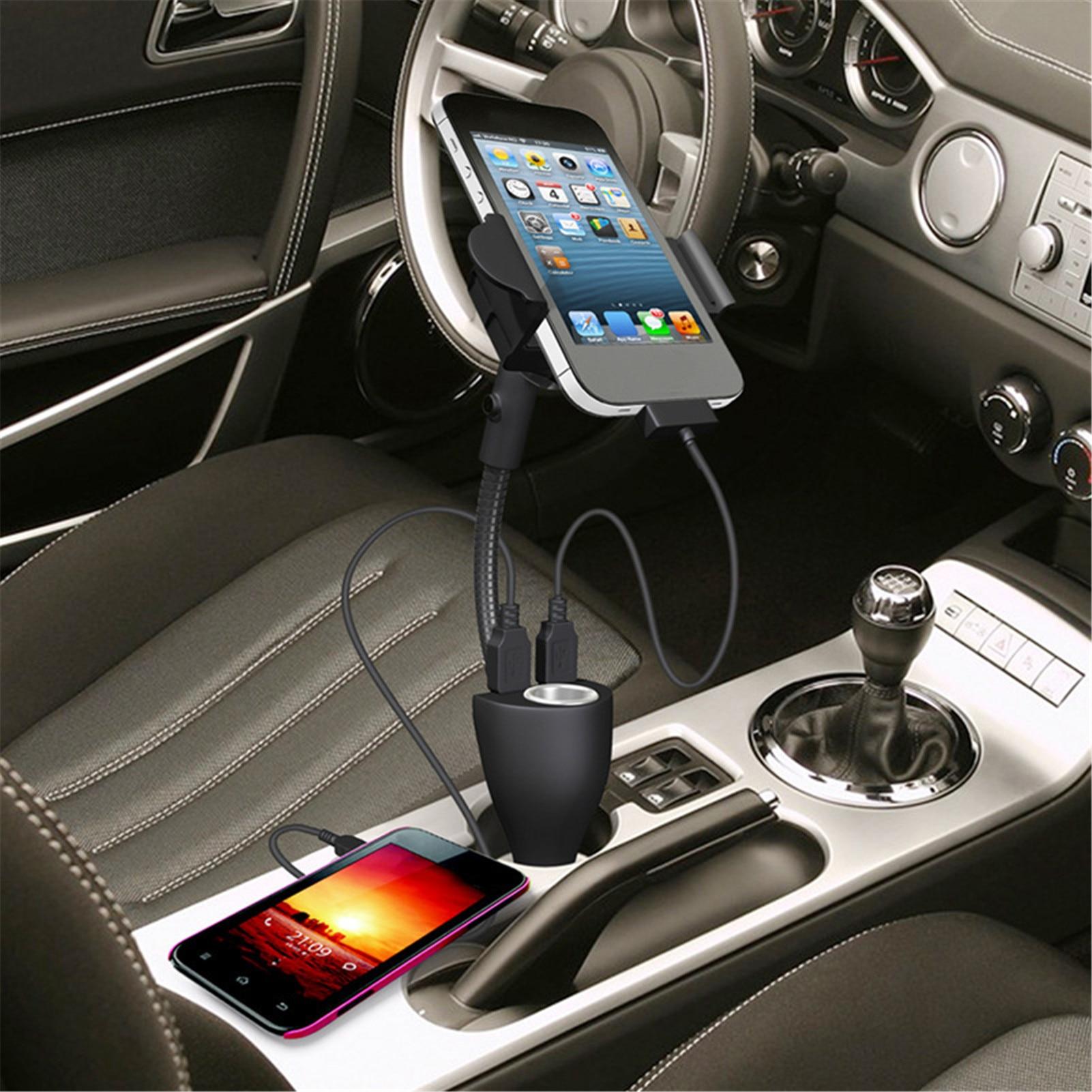 3 em 1 titular do carro para carro charuto chama tocha ajustavel suporte do telefone