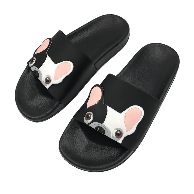 slippers women Cute Cartoon Dog Women shoes woman Fashion Beach Slides Flat Heels Flip Flops House Slides Shoes Sandalias Mujer