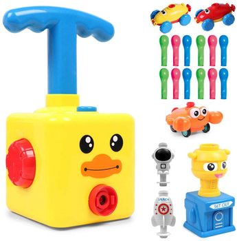 Power Rocket Balloon Launch Tower Toys Puzzle Fun Education Inertia Air Power Balloon Car Science Experimen Toy Children Gifts