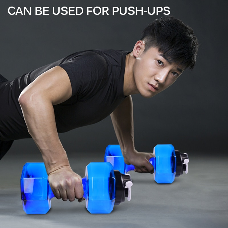 4 Colors Water Dumbbells Weight Lifting Slimming Bodybuilding Fitness Accessories Fitness Gym Comprehensive Exercise Equipment
