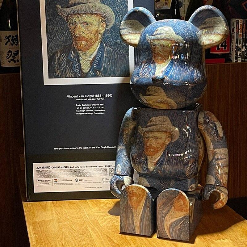 Sudo 70 سنتيمتر 1000% فان جوخ الذاتي صورة الدب عمل أرقام كتلة الدب نموذج أرقام حذاء مخزن الديكور