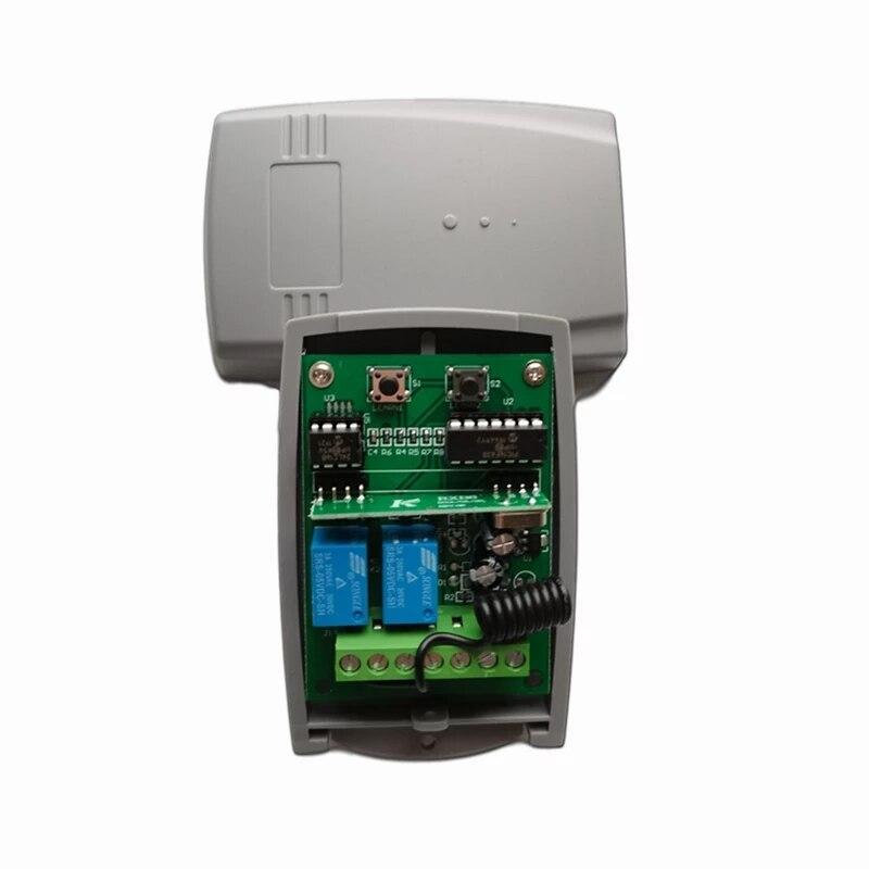 Двери гаража дистанционный пульт 433 МГц 433,92 Приемник DC 12V - 24V дистанционный пульт переключатель для двери гаража плавающий код