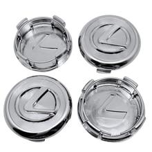 Capuchons centraux de moyeu de roue automatique pour Lexus CT200h GX470 NX RX330 RX300 GS300 IS250 IS200 CT 200H 4 pièces en plastique emblème de voiture