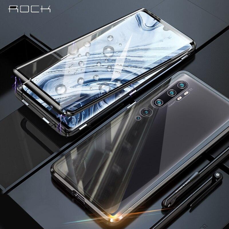 Roca Magnética caso por Xiaomi Nota 10 9T Pro de Metal 360 Dual funda de vidrio templado para Xiaomi Mi 9 Se Redmi Note 8 Pro 7