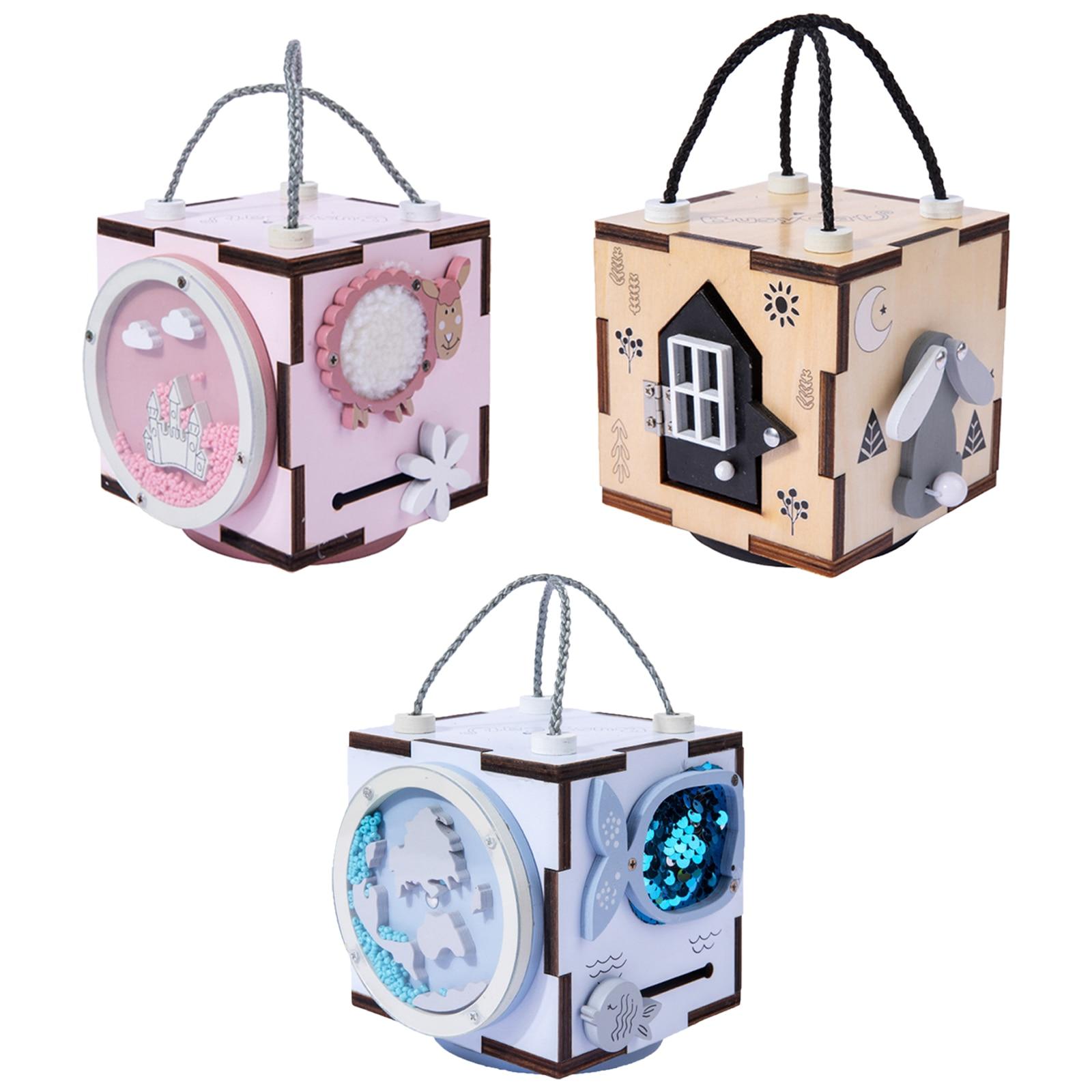 Montessori Busy Board Box Life Skills Training Fine Motor Skills Toy for Kids Boys Girls