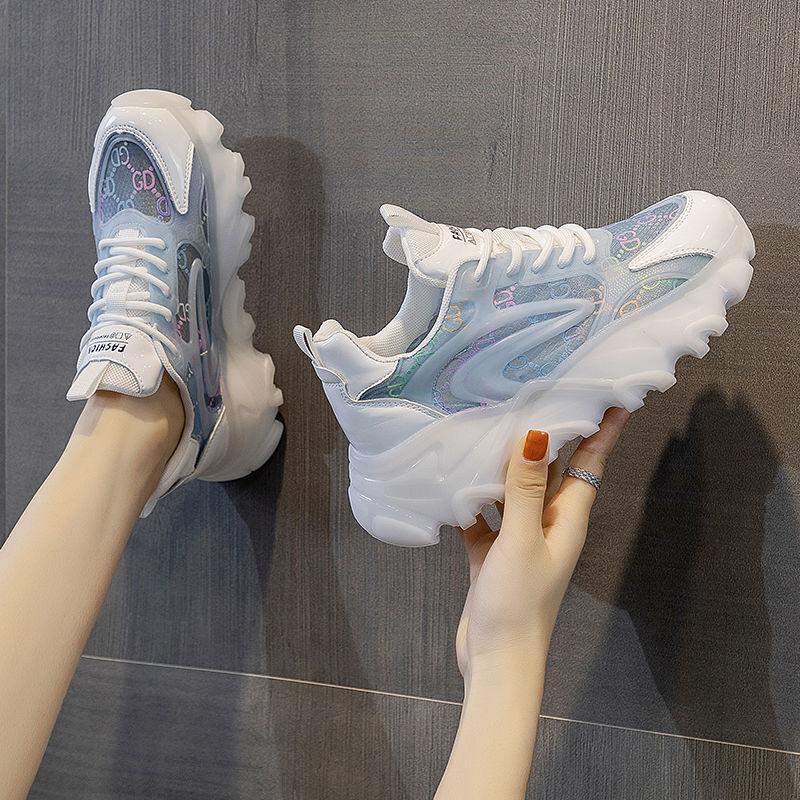 2021 Sneakers Women Designer Shoes Zapatillas Mujer New Jelly Sole Platform Vulcanized Shoes Women C