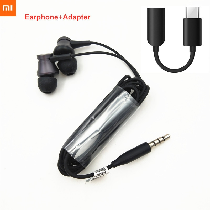 Xiaomi Type C Adapter Mi In-Ear Earphone 3.5mm Headset Audio Cable For Mi 10 Pro 9 9se cc9 9T 8 Redmi Note 8 7 K30 K20 pro 8A 7A