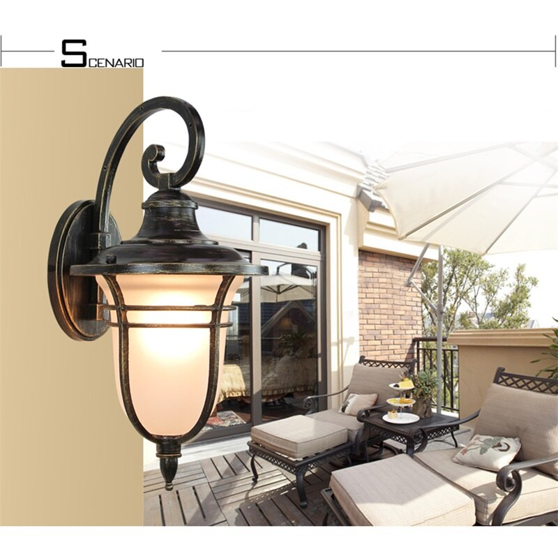 AOSONG Retro Outdoor Wall Lights Classical LED Sconces Lamp Waterproof Decorative For Home Porch Villa enlarge