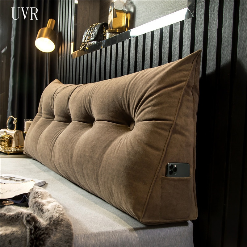 UVR مثلث وسادة طويلة مسند الظهر وسادة سوبر لينة كبيرة أريكة وسادة الخصر اللوح الأمامي للسرير وسادة