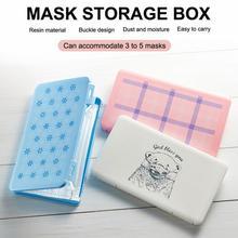 Portable Mask Storage Box Mask Packaging Box Moisture-proof And Plastic Rectangular Storage Box Disposable Mask Box