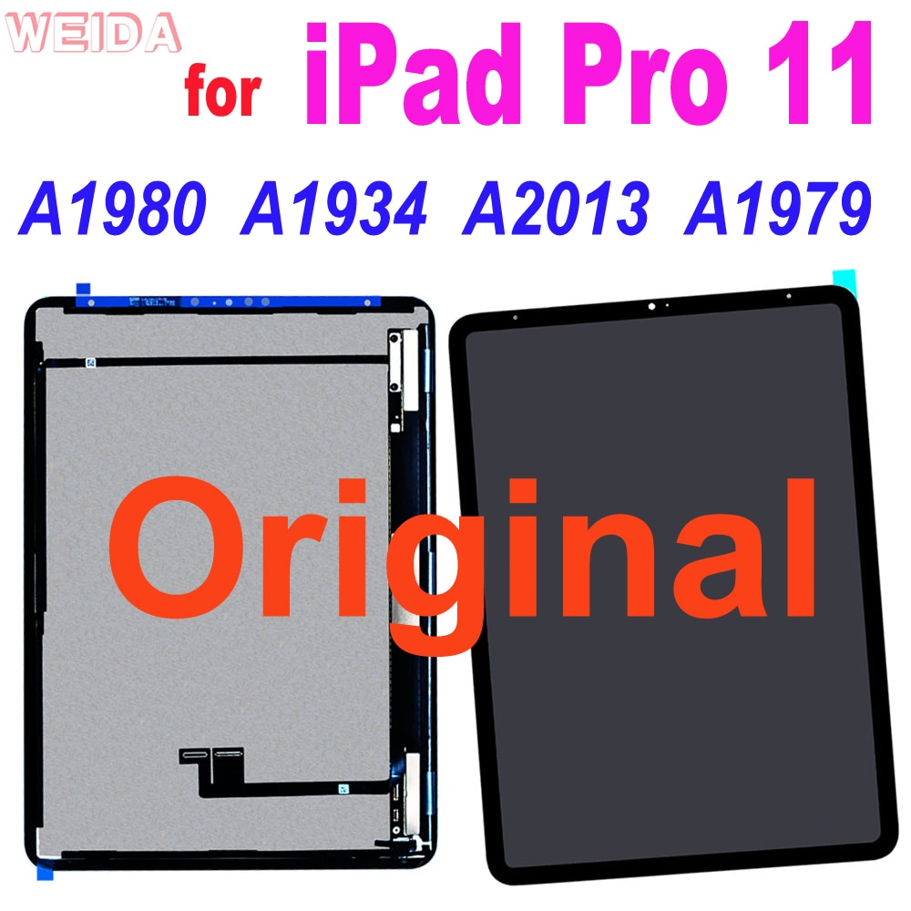 Promo Original for iPad Pro 11 A1980 A1934 A2013 A1979 LCD Display Touch Screen Digitizer Assembly Replacement for iPad Pro 11″ Lcd