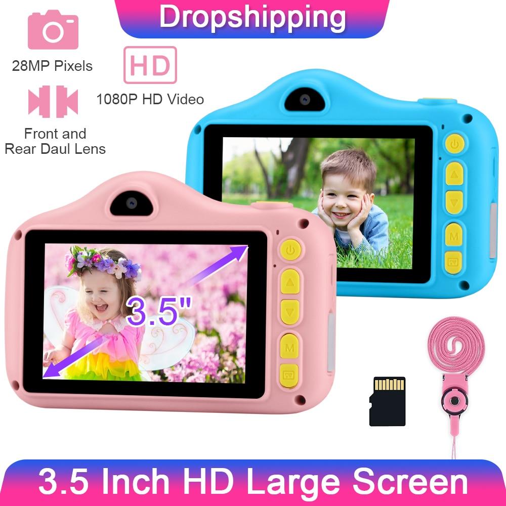 GKTZ 3.5 Inch Child Camera 1080P 28MP Child Digital Camera Kid Selfie Camera Photo Video Camera For Kids Gift Girls Toys Camera