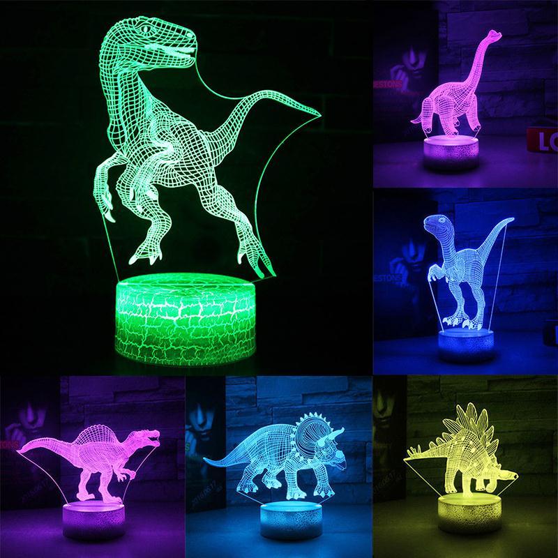 Table Lamp 3D Jurassic Dinosaur Atmosphere Christmas Xmas Touch Control Gifts Desk Light Night Light Art Kid Indoor Lighting
