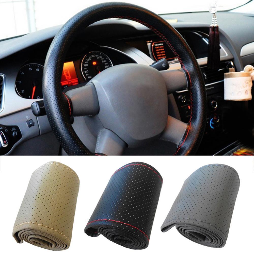 Универсальный автомобильный чехол на руль автомобиля, протектор руля, украшение «сделай сам»