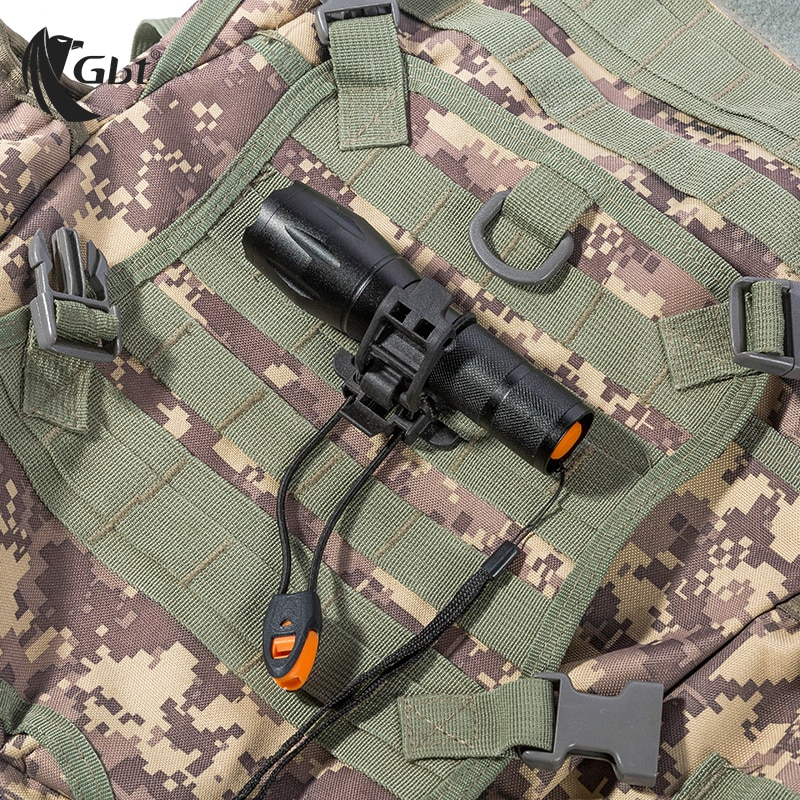 Clip táctico para rueda MOLLE, accesorios de senderismo, hebilla colgante multifunción, soporte de torniquete, accesorios de mochila militar