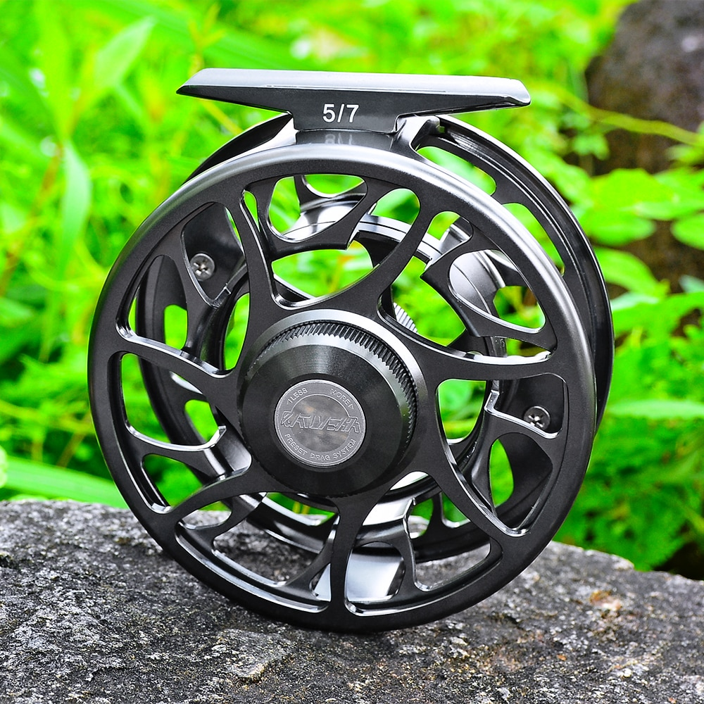 PROBEROS 3 + 1 BB volante de pesca 5/7 7/9 9/10 WT carrete de pesca con mosca CNC máquina de corte de cenador grande fundición a presión carrete de aluminio mosca