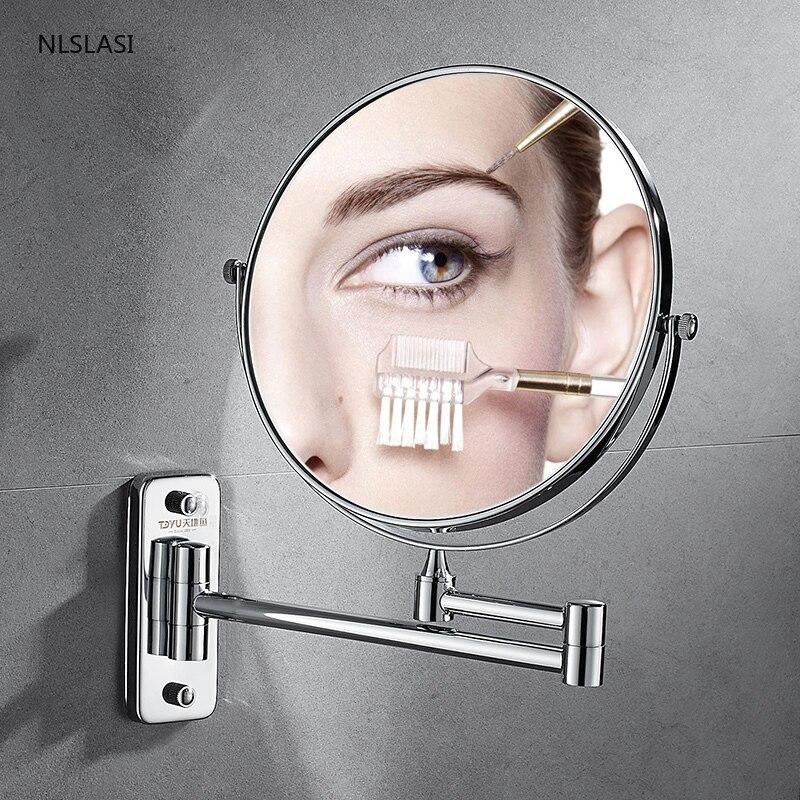 Fixado na Parede Espelho do Banheiro Acessórios de Banho Punch-livre Extensível Ampliação Espelho Inteligente Maquiagem Casa