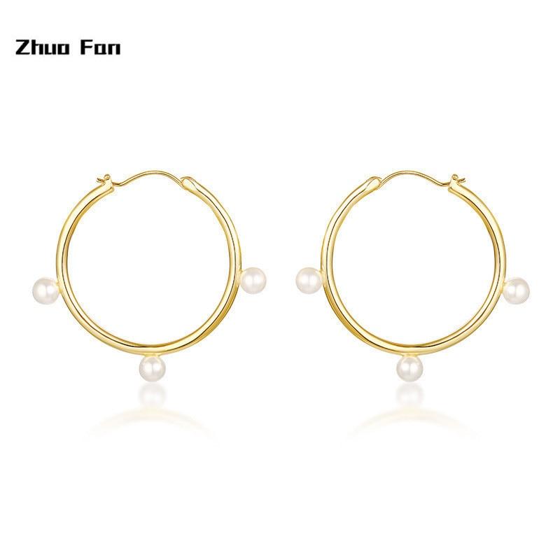 2020 Neue Original Design Heißer ohrringe kupfer material glas perlen ohrringe gold weibliche modelle ins wind schmuck Freies paket mail