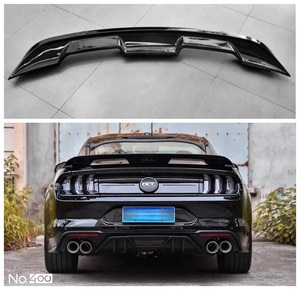 High quality ABS primer & Carbon Fiber Rear Trunk Lip Spoiler Wing For Ford Mustang GT500 Style 2015 2016 2017 2018 2019 2020+