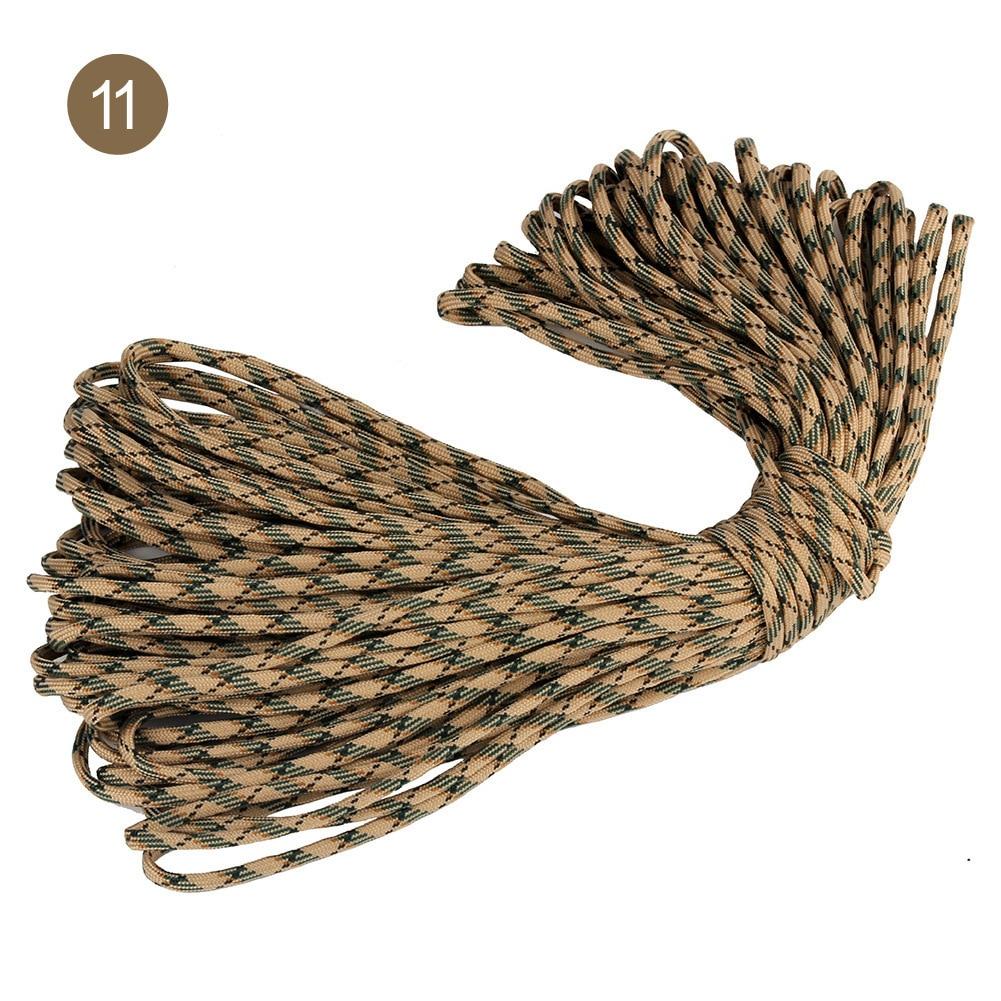 31 м Dia.5mm 7 стенд ядер Паракорд для выживания парашютный шнур шнурки Кемпинг веревка для альпинизма, кемпинга Пеший Туризм бельевая верёвка