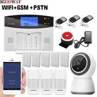 Sgooway     systeme dalarme de securite sans fil  wi-fi  GSM  PSTN  SMS  anti-cambriolage  avec camera ip  compatible avec ios et android
