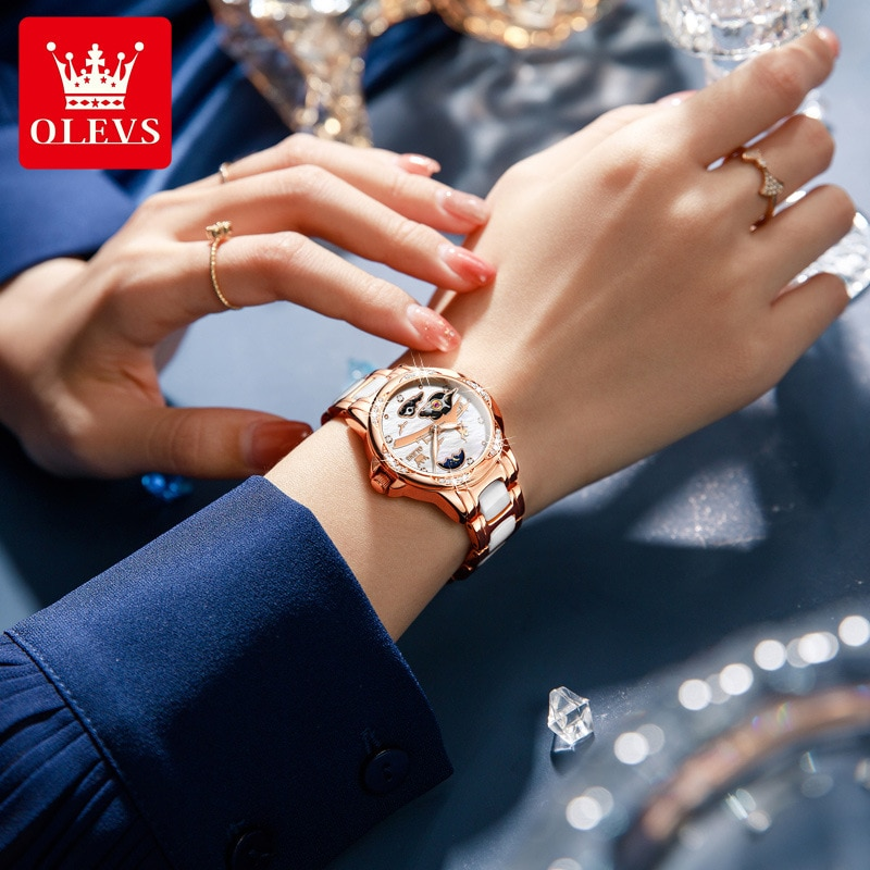 Watch Tanabata Fashion Hot-selling Automatic Mechanical Watch Women's Watch Gift Box enlarge