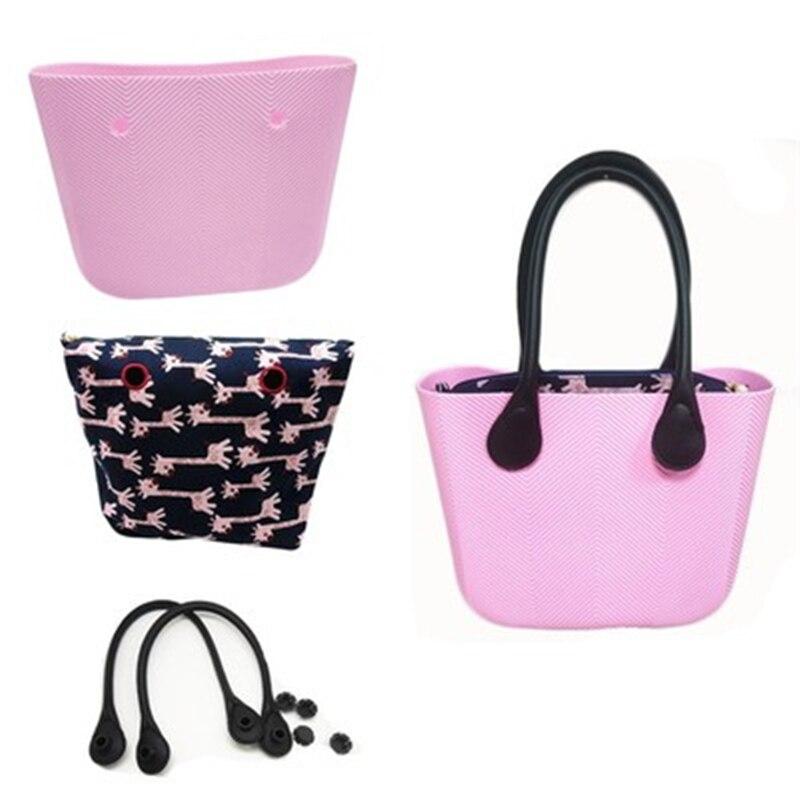 Bolso clásico para mujer, Bolso tipo obag, asas de silicona para mujer, bolso de playa a prueba de agua para mujer, mini bolso de hombro impermeable O