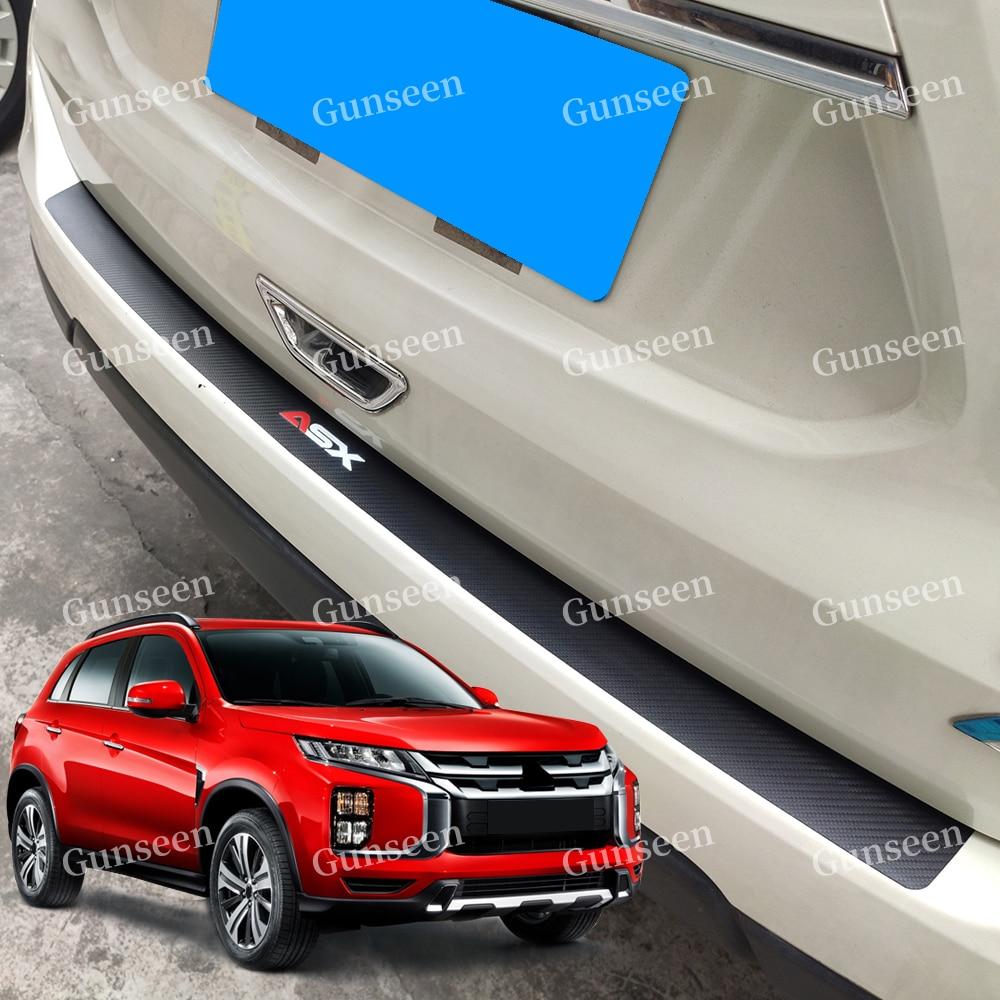 Para Mitsubishi Asx maletero de coche Protector de Parachoques Trasero puerta cubierta de alféizar de etiqueta estilo Accesorios 2013, 2014, 2020, 2019