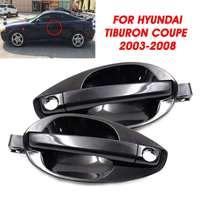 Autoleader 1Pair Car Rear Front Left Right Outside Door Handle Trims Black For Hyundai Tiburon 2003-2008 82650-2C000 82660-2C000