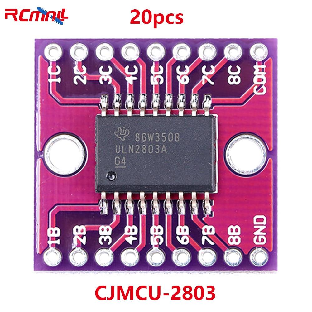 20Pcs CJMCU-2803 ULN2803A DARLINGTON Transistor Arrays Driver Module High Withstand Voltage and High Current Original 20pcs sp8m3 lcd high pressure plate mos transistor