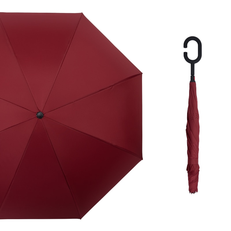 Waterproof Outdoor Umbrellas Solid Color Compact Travel Wind Proof Rain Long Handle Umbrella Women Parapluie Rain Gear DF50YS enlarge