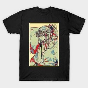 Awesome Charming Sesshomaru Demon Inuyasha Japanese Anime Vintage Black T-shirt Harajuku Ullzang T-shirt Funny Tees Male