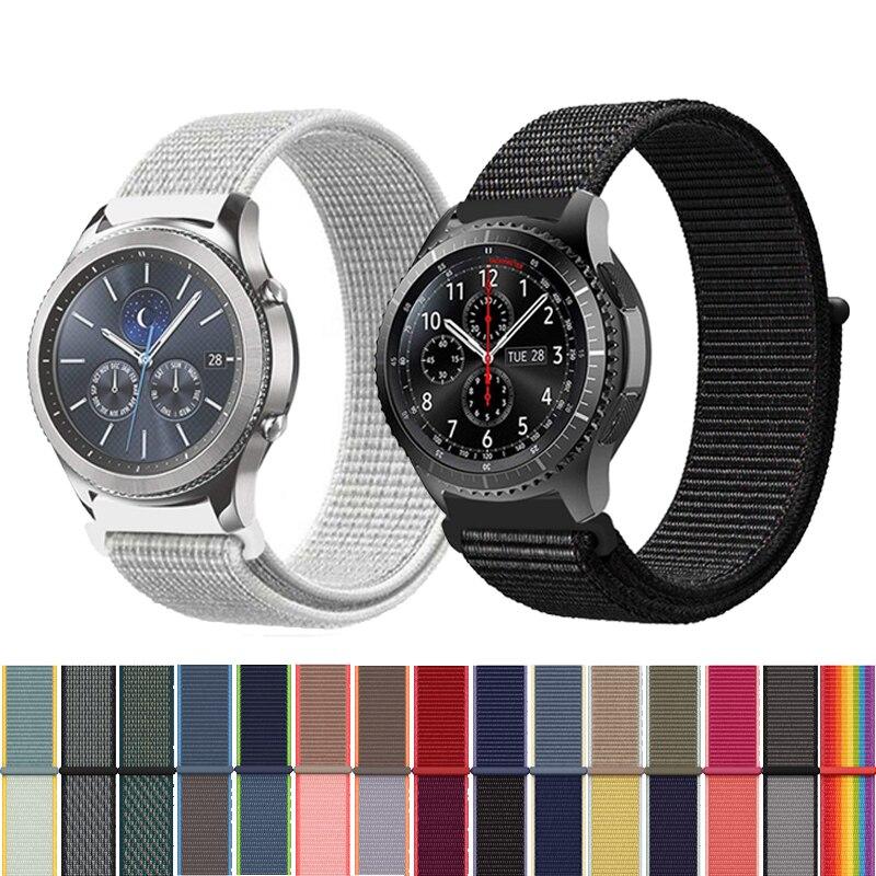22mm 20mm Watch Band 46mm 42 Gear Sport for Samsung Galaxy Watch Gear S3 Frontier Strap Loop for Huawei Watch Gt Nylon