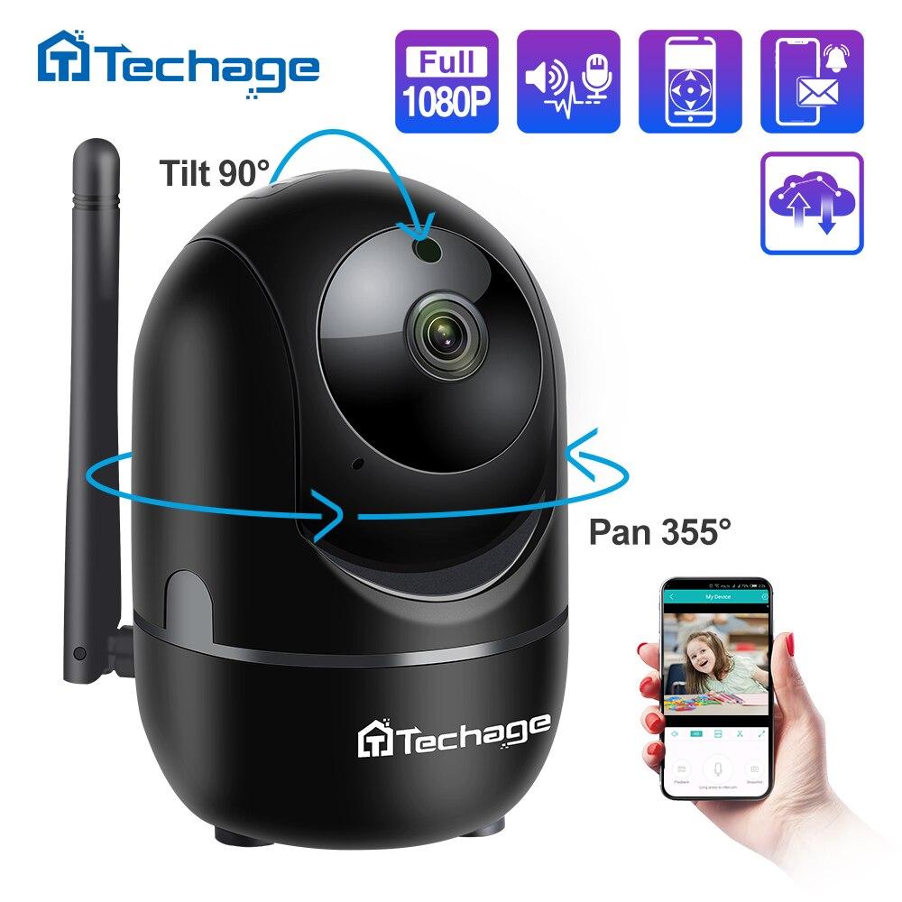 Techage 1080P P2P سحابة كاميرا IP لاسلكية السيارات تتبع الحركة فيديو الأمن مراقبة CCTV كاميرا صغيرة واي فاي مراقبة الطفل