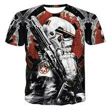 Hip Hop 3D Star Wars imprimé t-shirt hommes t-shirt hauts célèbre film conception t-shirt pour Homme été à manches courtes t-shirt Homme