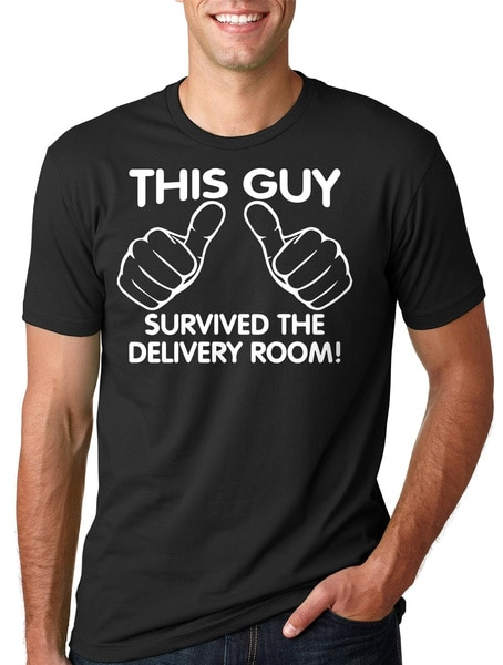 sorry ladies this guy is taken boyfriend t shirt relationship gifts for him anniversary t shirt gift from girlfriend This Guy Survived The Delivery Room T-Shirt Gift For New Father Daddy Dad Maternity Tees Shirt Tshirts