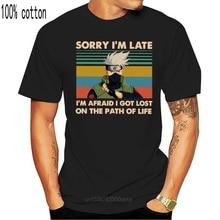 나루토 Hatake Kakashi 미안 해요 늦은 IM 두려워 나는 삶의 경로에 잃어버린 t-셔츠