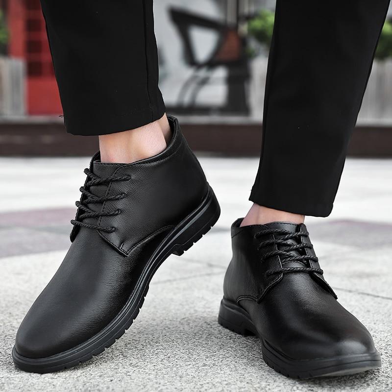 أحذية جلدية للرجال ، أحذية أكسفورد رسمية للرجال باللون الأسود والبني ، مقاس كبير