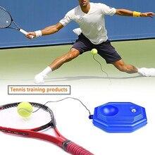 1 conjunto de tênis treinador base de tênis + bola de treinamento com corda durável auto-estudo rebote bolas sparring dispositivo instrutor de tênis esportes