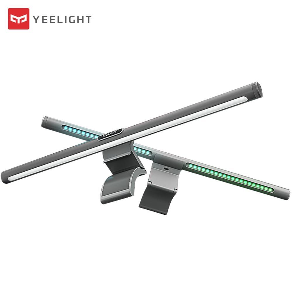 Lâmpada de Mesa Proteção dos Olhos Yeelight Dobrável Leitura Regulável Computador Usb Display Pendurado Luz Mihome Controle App