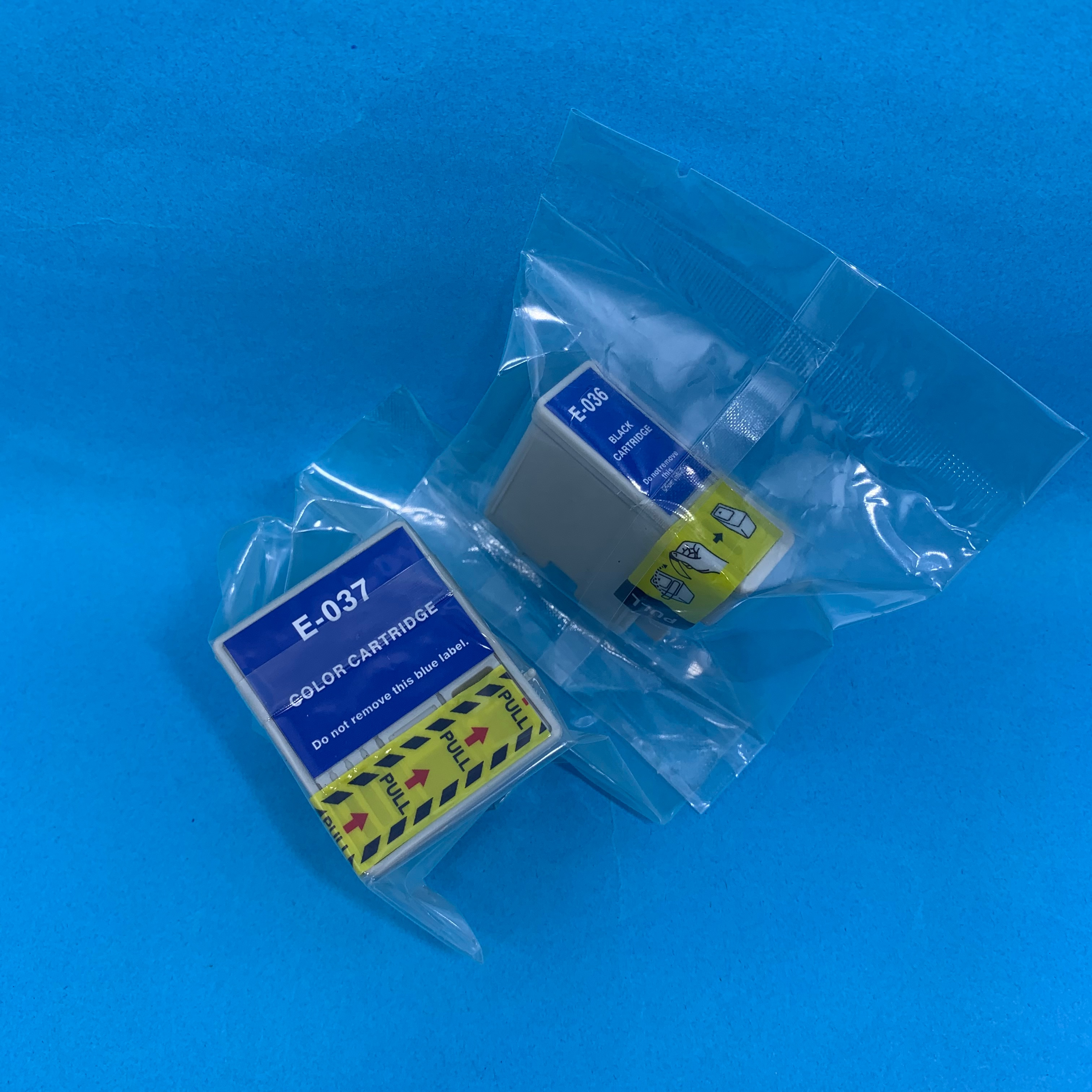 Cartucho de tinta YOTAT 2 uds Compatible T036 T037 para impresora Epson Stylus C42UX C44UX C46