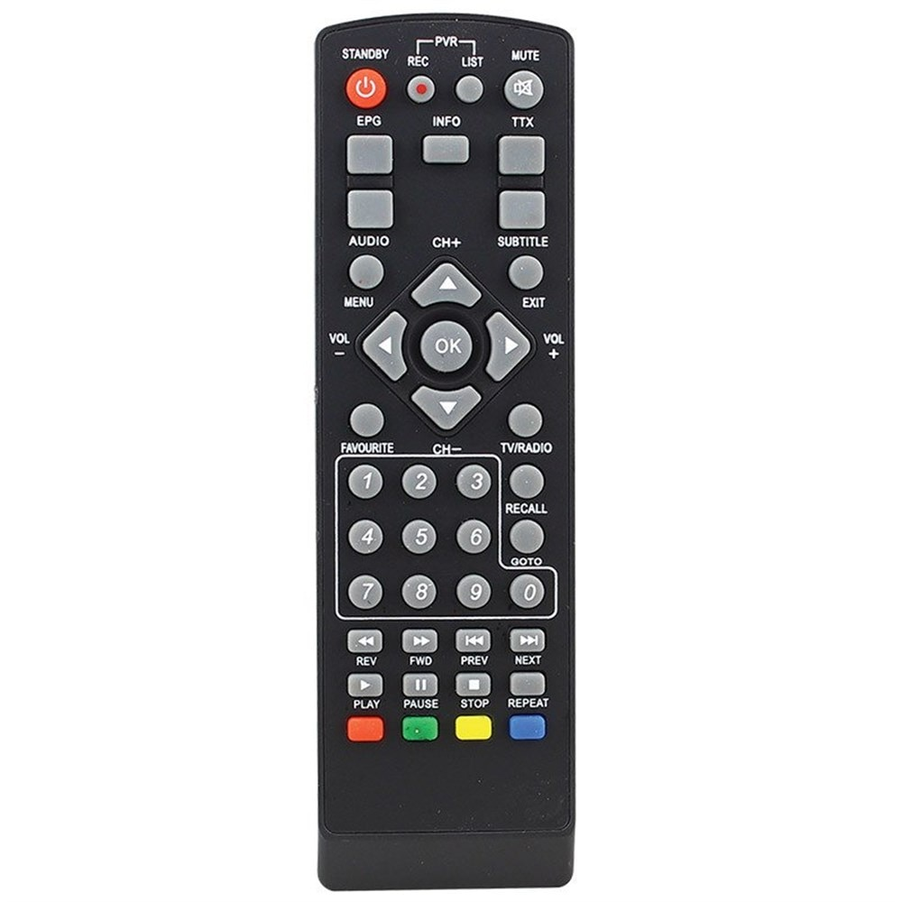 Receptor de televisión y satélite con Control remoto, Amstrad MD109 HD, AT-KR0110-502