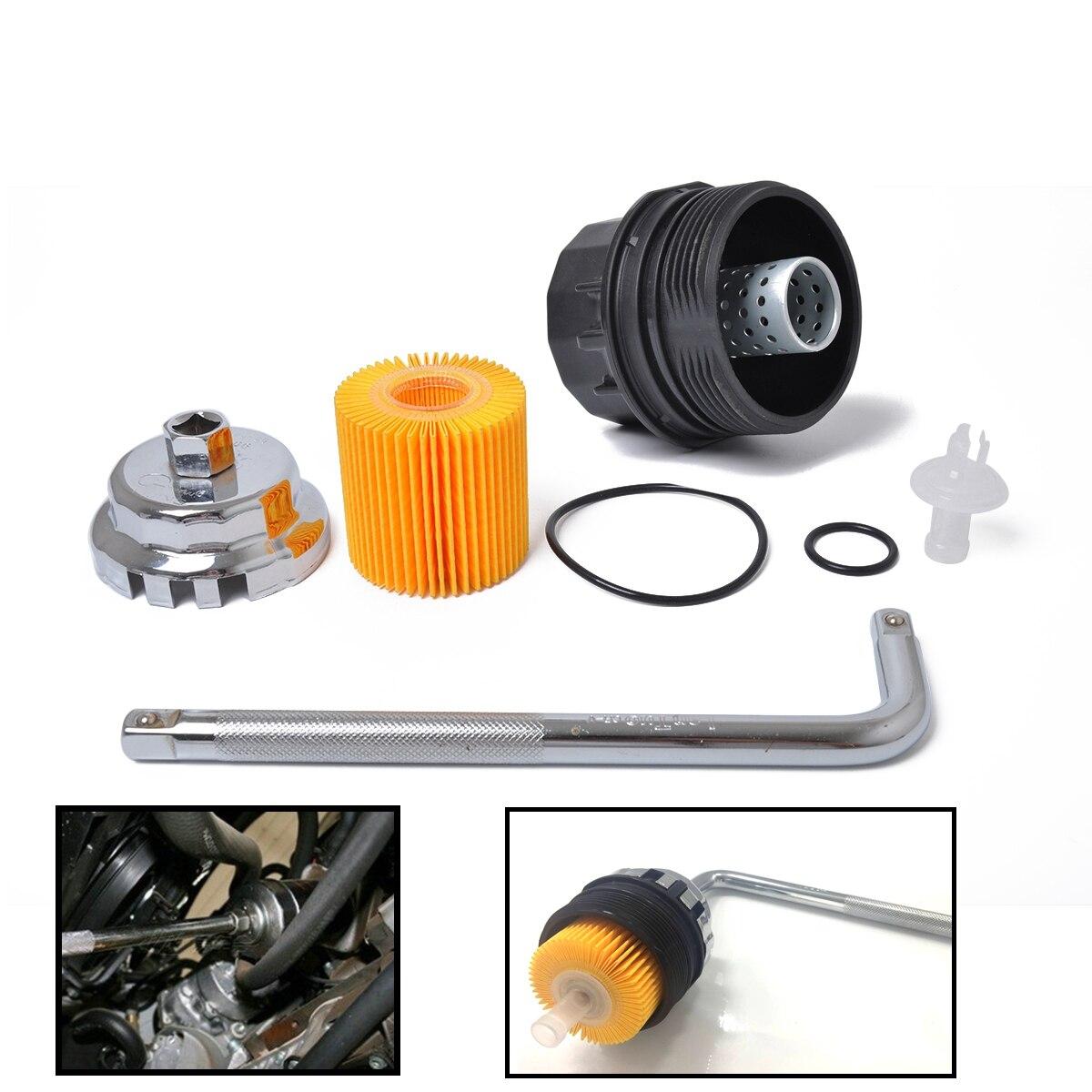 Universal Oil Filter Realocação Kit Adaptador de Montagem do Filtro de Óleo Com Capa & Cap Tipo Chave Grade Óleo Filtro Para Toyota corolla