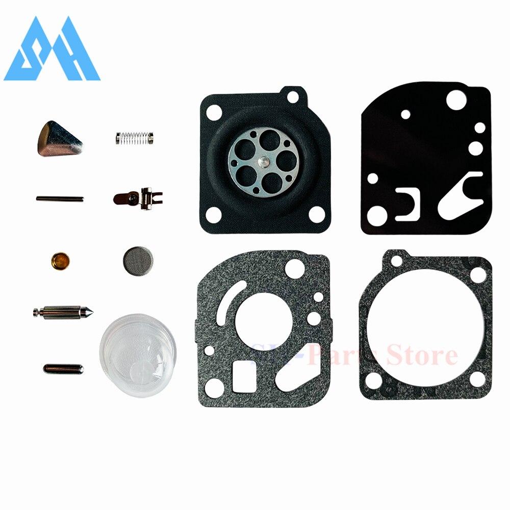 14Pcs/Set Carburetor Repair Kit for Zama C1Q C1U For ZAMA RB-47 Poulan WeedEater Craftsman Trimmers Blowers Carb