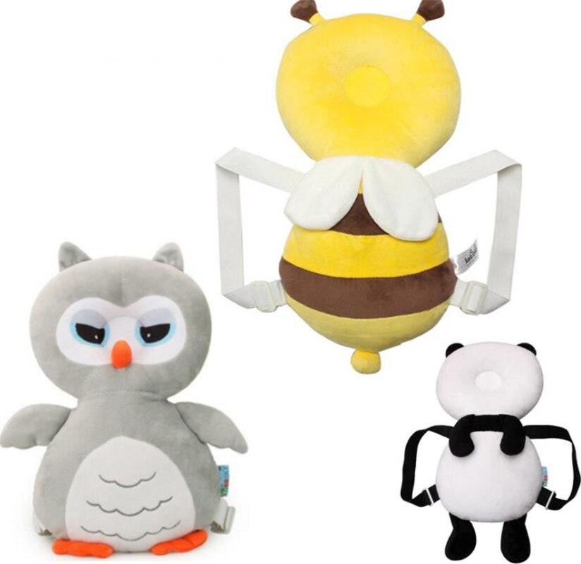 Almohada de cabeza de búho para bebé, almohada de protección de cabeza de dibujos animados resistente a roturas para bebés, almohadilla de protección para bebés, buen ayudante